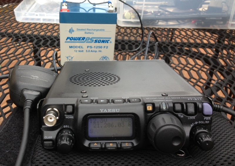 The mighty Yaesu FT-817 transceiver