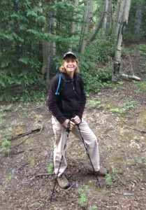 Joyce K0JJW on the trail