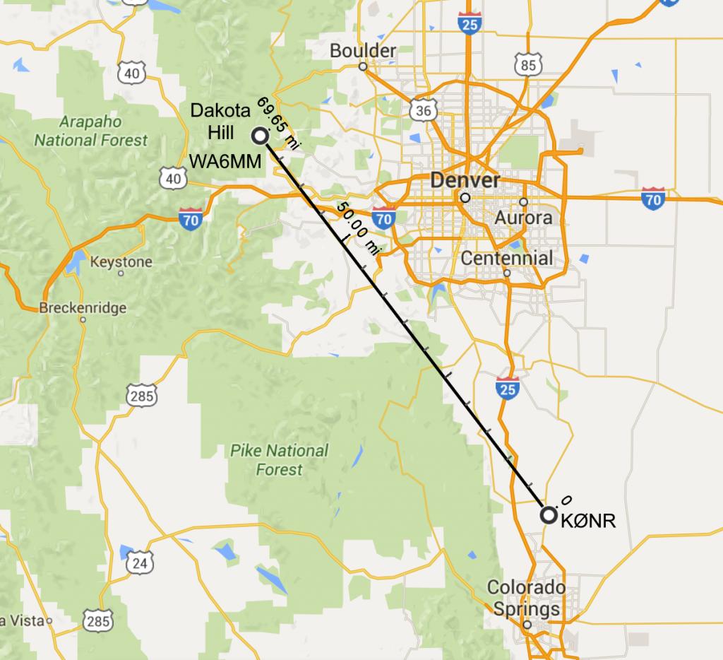WA6MM to K0NR map - Dakota Hill