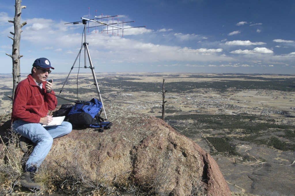 K0NR Operating VHF on Mt Herman