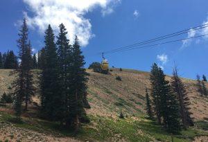 Tram going up mountain
