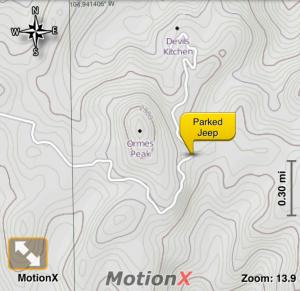 ormes-peak-map