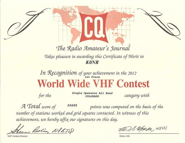 K0NR CQ WW VHF