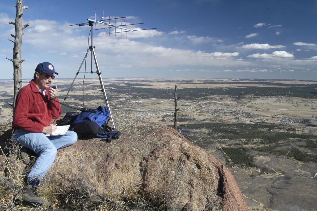 K0NR Operating VHF on Mt Herman
