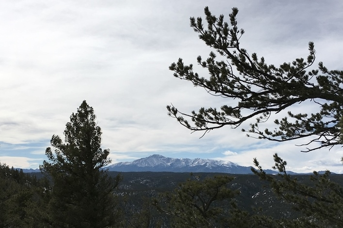 A view of Pikes Peak from Mt Herman.